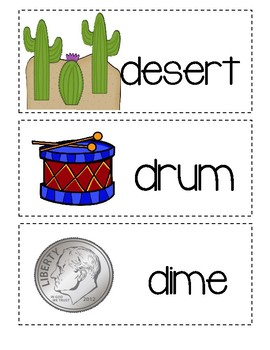 Letter D ~ Picture Word Cards