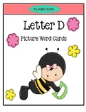Letter D - Picture Word Cards