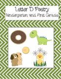 Letter D Poetry Kindergarten & First Grade