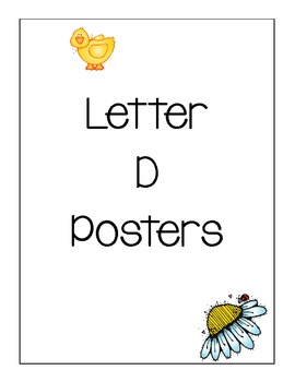 Letter D Posters