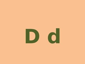 Letter D PowerPoint Presentation