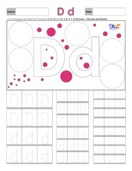 Letter D Printing and Picture Find Printables | myABCdad Learning for Kids