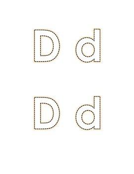 Letter D Recognition Draw a Line Match Trace Color Pick-out