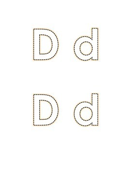 Letter D Recognition Draw a Line Match Trace Color Pick-out