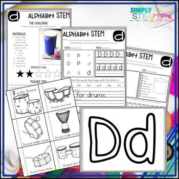 Letter D STEM Challenge | Letter D Activity
