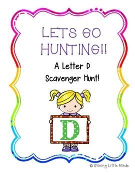 Letter D Scavenger Hunt
