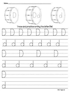 Letter D Trace