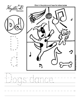 Letter D Trace and Write Worksheet Pack