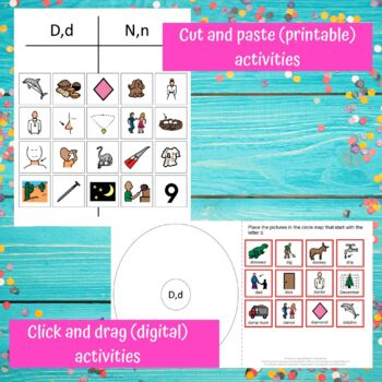 Letter of the Week Letter D Unit for Special Education
