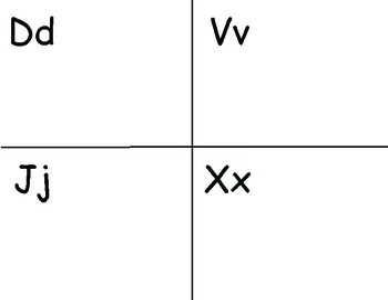 Letter D V J X Picture Sort Saxon Phonics