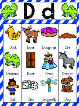 letter a vocabulary words preschool letter d vocabulary cards by the tutu teachers 13014