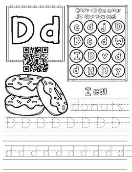 letter d worksheet by miss g 39 s resources teachers pay. Black Bedroom Furniture Sets. Home Design Ideas