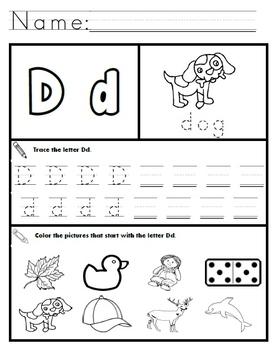 letter d worksheets by kindergarten swag teachers pay. Black Bedroom Furniture Sets. Home Design Ideas