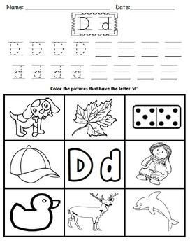 letter d worksheets by kindergarten swag teachers pay teachers. Black Bedroom Furniture Sets. Home Design Ideas