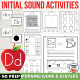 Letter D Worksheets with Word and Picture Cards