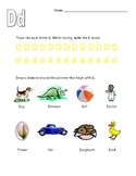 Letter D Worksheets