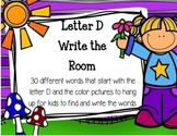 Letter D Write the Room