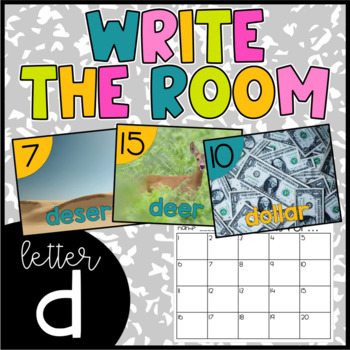 Letter D Write the Room- Literacy Station