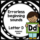 Letter D adapted book errorless learning