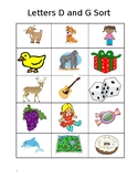 Letter D and E Picture Sort