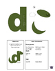 Letter D cutout craft