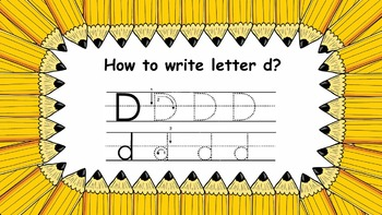 Letter D d PowerPoint Show