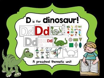 Letter D for Dinosaur Preschool Activities Bundle