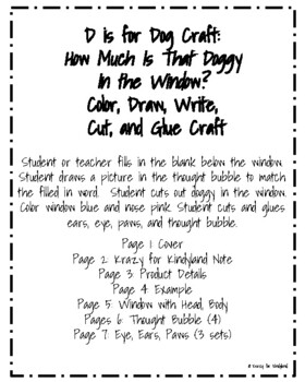 Letter D is for Dog Craft: How Much Is That Doggy In the Window?