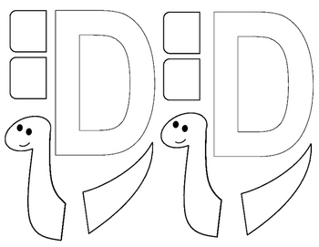 Letter D is for dinosaur craft