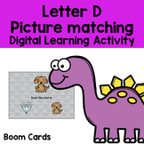 Letter D picture matching DIGITAL LEARNING BOOM™ card deck