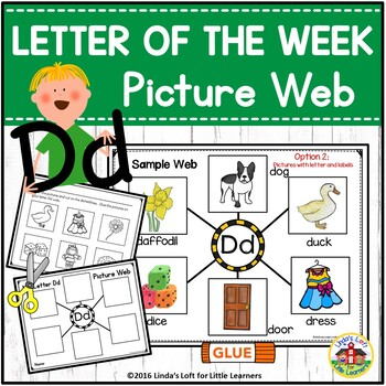 Letter Dd Beginning Sound Picture Web Activity