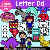 Letter Dd Digital Clipart