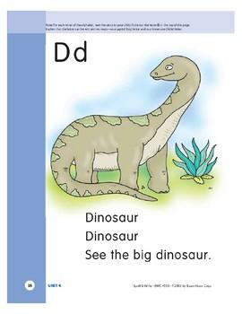 Letter Dd (Dinosaur)