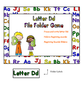 Letter Dd File Folder Game