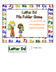 Letter Dd File Folder Game