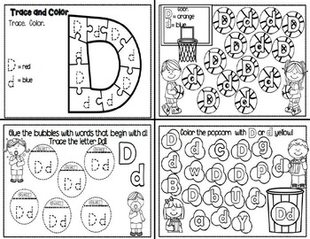 Letter Dd- Interactive Activities Booklet