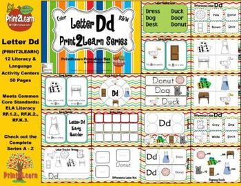 Letter Dd Language & Literacy Activity Center {COMMON CORE