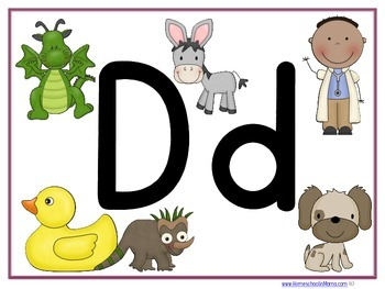Letter Dd Learning Pack