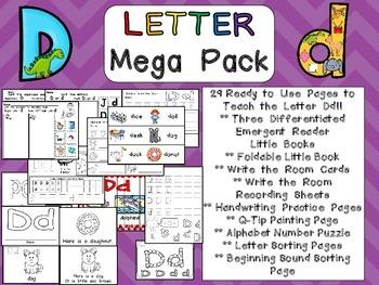 Letter Dd Mega Pack- Kindergarten Alphabet- Handwriting, Little Books, and MORE!