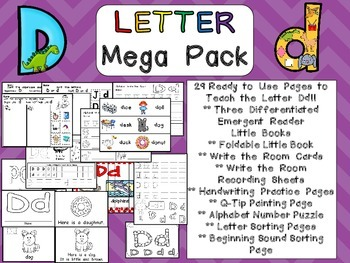 Letter Dd Mega Pack- Kindergarten Alphabet- Handwriting, L
