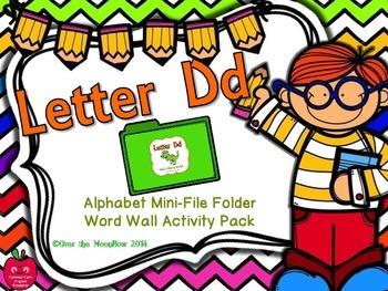 Letter Dd Mini-File Folder Word Wall Activity Pack