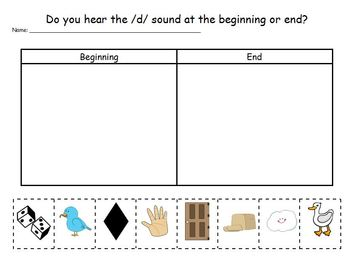 Letter Dd Phonics and Writing Pack