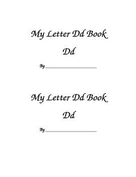 Letter Dd Printable Book