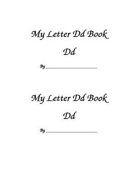 Letter Dd Printable Book