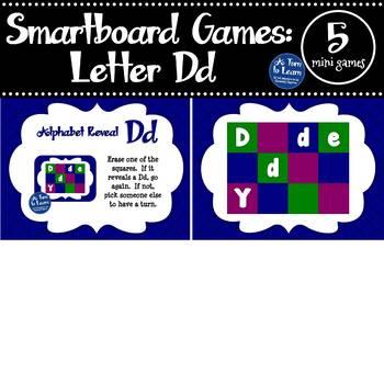 Letter Dd Smartboard Games (5 mini games) (Smartboard/Promethean Board)