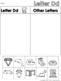 Letter Dd Beginning Sound Sort/Phonemic Awareness