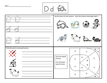 letter dd worksheet by fred mabbott teachers pay teachers. Black Bedroom Furniture Sets. Home Design Ideas