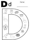 Letter Dd coloring
