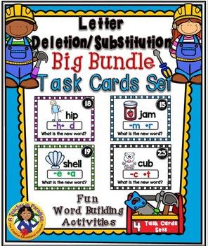 Letter Deletion/Substitution Task Cards Set