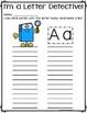 Write the Room: Letter Detective {26 letter worksheets}